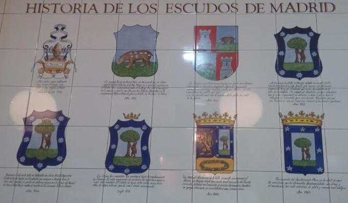Historia escudos de Madrid. Elantiguomundo.com